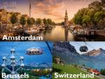 París, Países bajos, Suiza e Italia